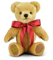 Merrythought GM10LG London Gold Mohair Teddy Bear with Draw String Bag